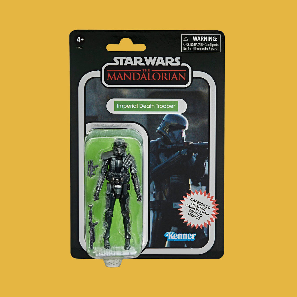 HASBRO - STAR WARS MANDALORIAN - VINTAGE COLLECTION IMPERIAL DEATH TROOPER (CARBONIZED)