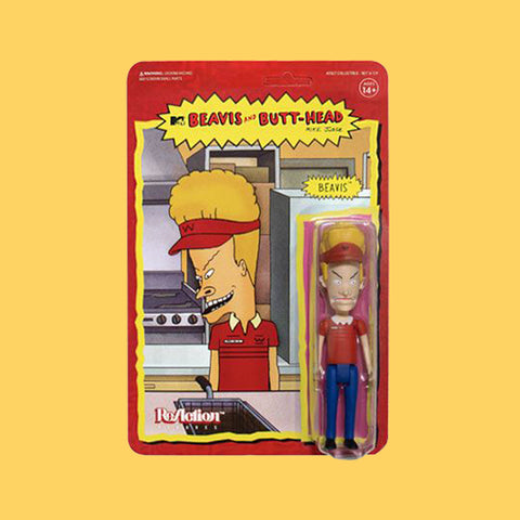 SUPER 7 x BEAVIS & BUTT-HEAD - REACTION ACTIONFIGUR BURGER WORLD BEAVIS (10CM)