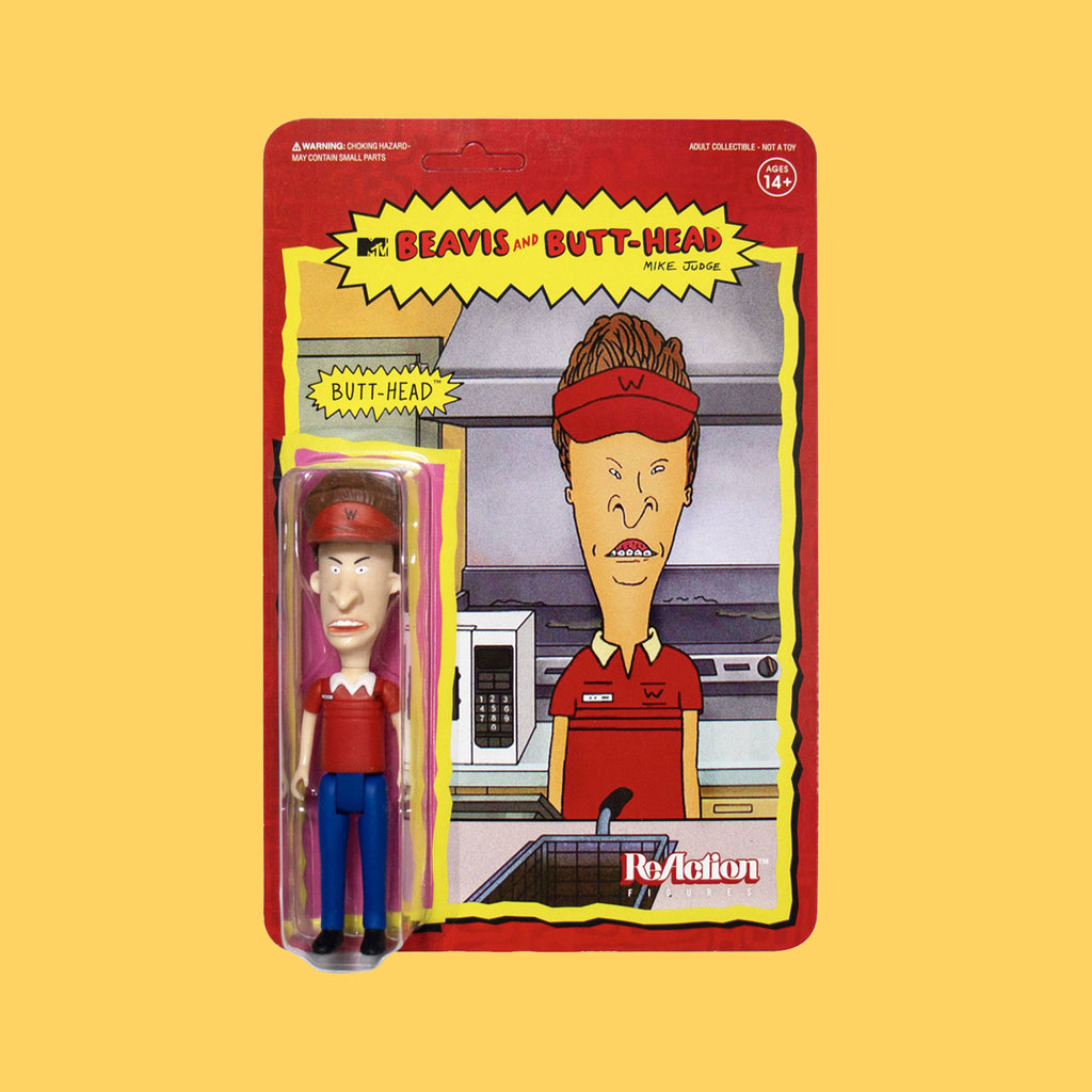 SUPER 7 x BEAVIS & BUTT-HEAD - REACTION ACTIONFIGUR BURGER WORLD BUTTHEAD (10CM)
