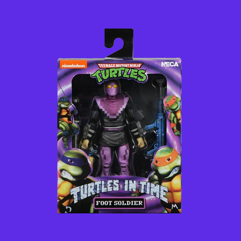 TEENAGE MUTANT NINJA TURTLES x NECA - TURTLES IN TIME ACTIONFIGUR SERIE 1 FOOT SOLDIER 18CM