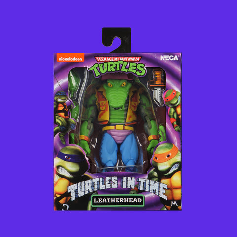 TEENAGE MUTANT NINJA TURTLES x NECA - TURTLES IN TIME ACTIONFIGUR SERIE 2 LEATHERHEAD 18CM