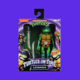 TEENAGE MUTANT NINJA TURTLES x NECA - TURTLES IN TIME ACTIONFIGUR SERIE 1 LEONARDO 18CM