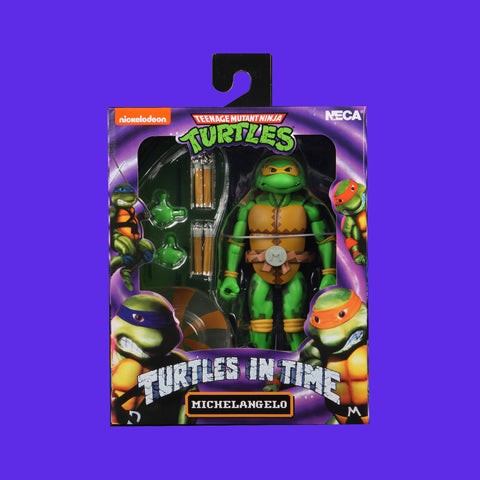 TEENAGE MUTANT NINJA TURTLES x NECA - TURTLES IN TIME ACTIONFIGUR SERIE 2 MICHELANGELO 18CM