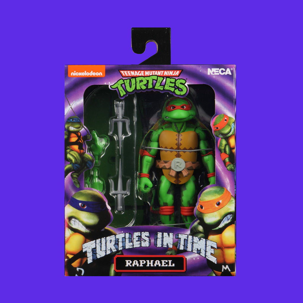 TEENAGE MUTANT NINJA TURTLES x NECA - TURTLES IN TIME ACTIONFIGUR SERIE 2 RAPHAEL 18CM