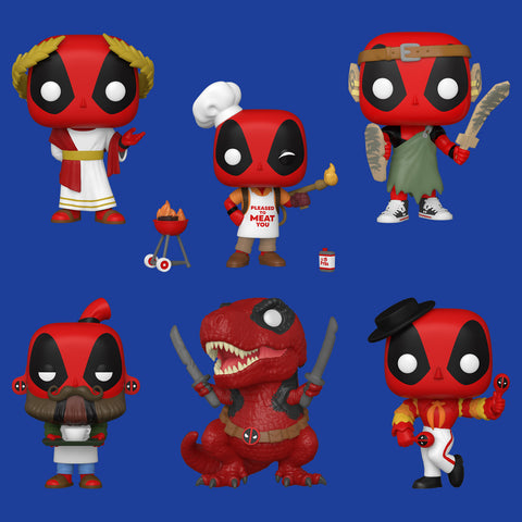 MARVEL'S DEADPOOL x FUNKO POP! - ALLE 6 ALS SET