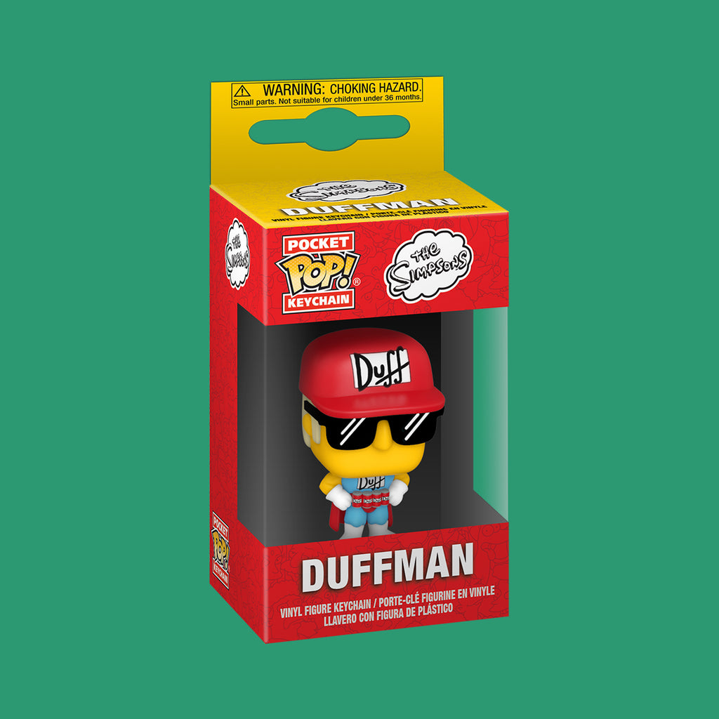 THE SIMPSONS x FUNKO POP! SCHLÜSSELANHÄNGER - DUFFMAN