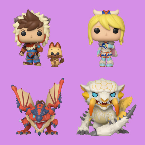 MONSTER HUNTER x FUNKO POP! - ALLE VIER IM SET!