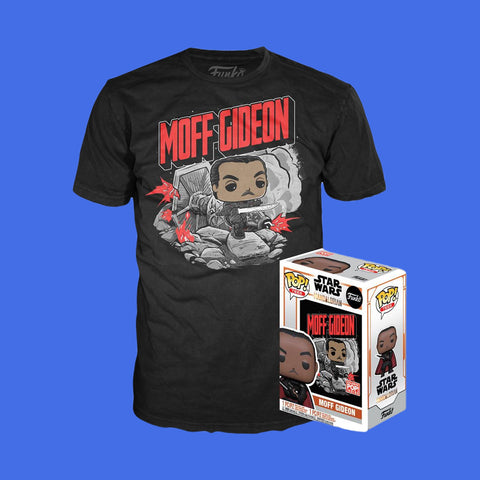 FUNKO POP TEE x STAR WARS THE MANDALORIAN - MOFF GIDEON (SHIRT + EXCLUSIVER FUNKO POP)