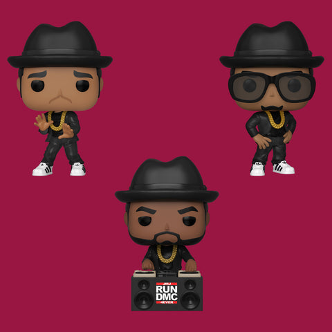 RUN DMC x FUNKO POP! - ALLE DREI IM SET!