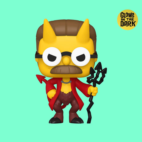 FUNKO POP x SIMPSONS TREEHOUSE OF HORROR - DEVIL FLANDERS (GLOW IN THE DARK)