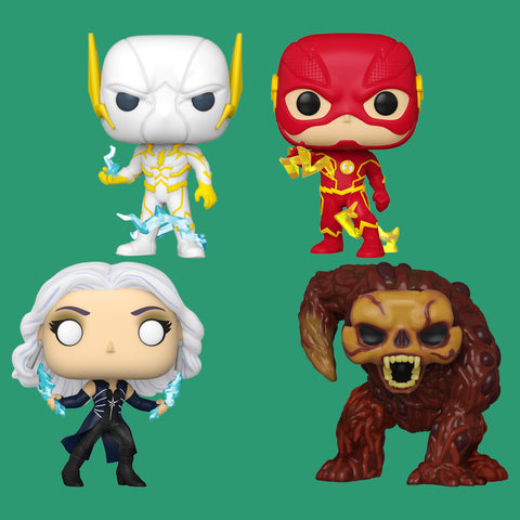 THE FLASH x FUNKO POP! - ALLE VIER FIGUREN IM SET