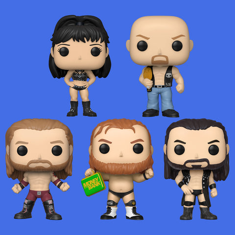 WWE x FUNKO POP! - ALLE 5 FIGUREN IM SET