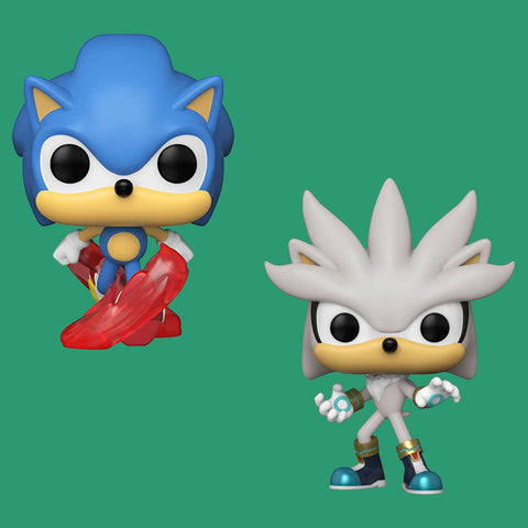FUNKO POP! SONIC 30TH - SILVER & SONIC THE HEDGEHOG (SET)