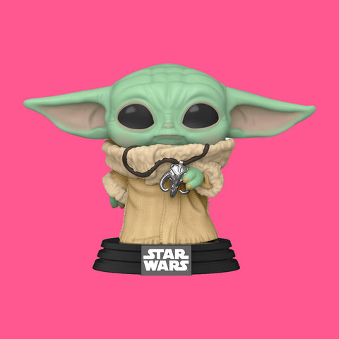 NYCC 2020 FUNKO POP! - THE MANDALORIAN - THE CHILD / GROGU WITH NECKLACE