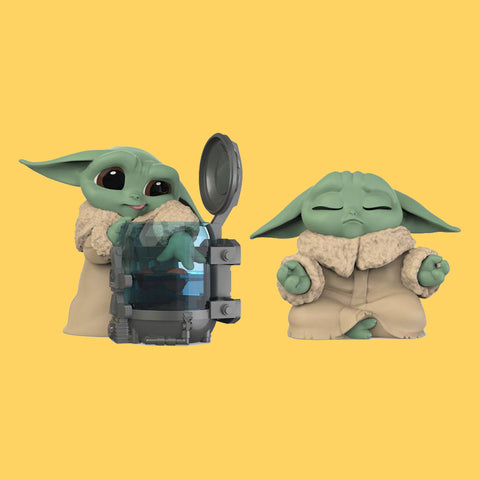 STAR WARS x HASBRO - MANDALORIAN BOUNTY COLLECTION (WAVE 3) THE CHILD / GROGU - CURIOUS CHILD & MEDITATION