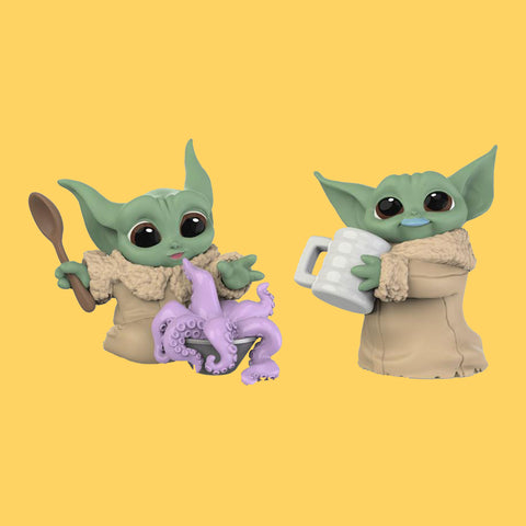 STAR WARS x HASBRO - MANDALORIAN BOUNTY COLLECTION (WAVE 3) THE CHILD / GROGU - TENTACLE SOUP & MILK MUSTACHE