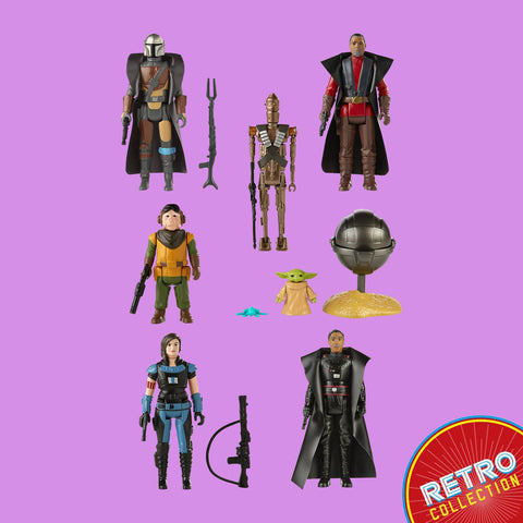 HASBRO - STAR WARS THE MANDALORIAN - RETRO COLLECTION ALLE 7 FIGUREN IM SET