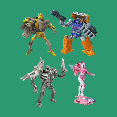 TRANSFORMERS x HASBRO - GENERATIONS WAR FOR CYBERTRON: KINGDOM - SET (4 FIGUREN)