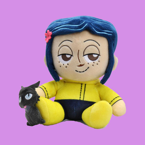 KIDROBOT x CORALINE - CORALINE WITH CAT PHUNNY PLUSH