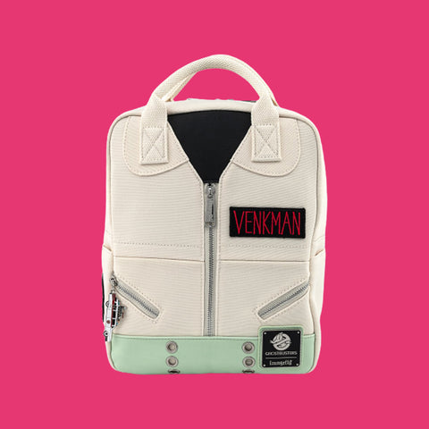 LOUNGEFLY x GHOSTBUSTERS - VENKMAN COSPLAY SQUARE CANVAS MINI BACKPACK