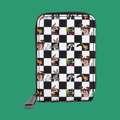 LOUNGEFLY x LOONEY TUNES - CHECK ACCORDIAN BLACK/WHITE CARDHOLDER
