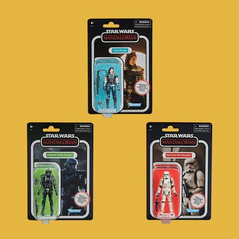 HASBRO - STAR WARS MANDALORIAN - VINTAGE COLLECTION SET (CARBONIZED)