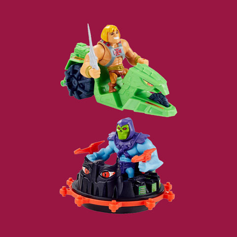 MATTEL x MASTERS OF THE UNIVERSE - ETERNIA MINIS HE-MAN & SKELETOR MIT FAHRZEUGEN