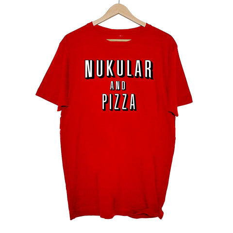 RADIO NUKULAR - NUKULAR & PIZZA T-SHIRT RED