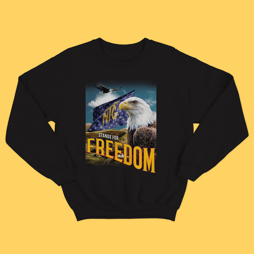 NTG ORIGINALS - FREEDOM CREWNECK SCHWARZ