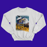 NTG ORIGINALS - FREEDOM CREWNECK WEISS