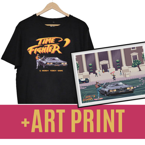 NTG x MYK - TIME FIGHTER PACK (SHIRT + ART PRINT)