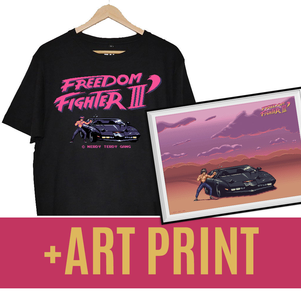 NTG x MYK - FREEDOM FIGHTER III PACK (SHIRT + ART PRINT)