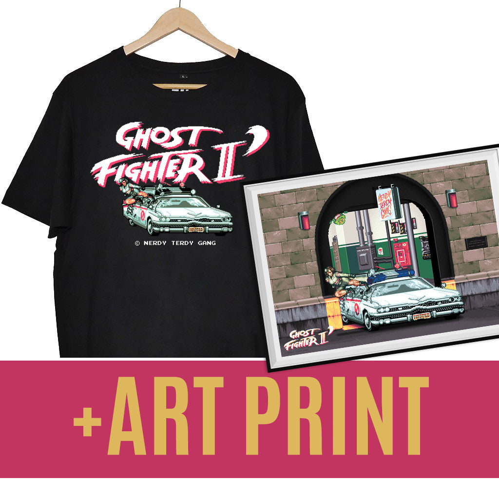 NTG x MYK - GHOST FIGHTER II PACK (SHIRT + ART PRINT)