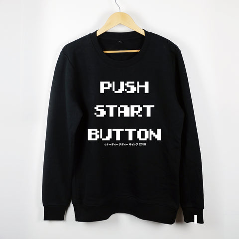 NTG PUSH START BUTTON GLOW IN THE DARK CREWNECK BLACK (LIMITED)