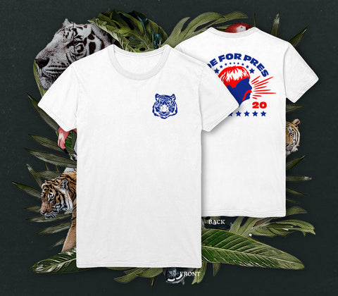NERDY TIGRE GANG - JOE FOR PRES SHIRT WEISS
