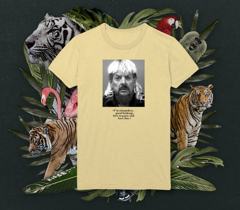 NERDY TIGRE GANG - TIGER MUGSHOT SHIRT LEMON
