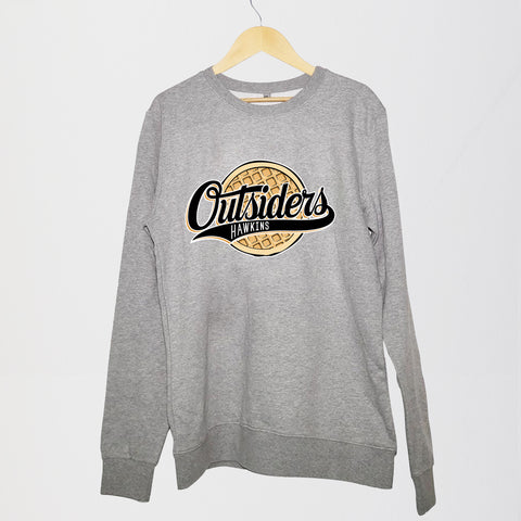 NERDY THINGS SEASON 3 - OUTSIDERS CREWNECK GREY