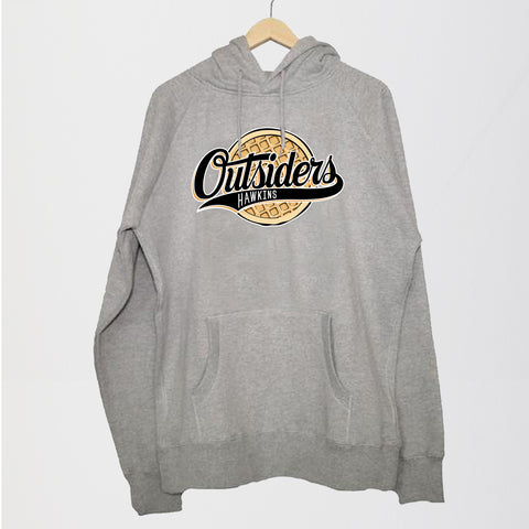 NERDY THINGS SEASON 3 - OUTSIDERS HOODIE GREY