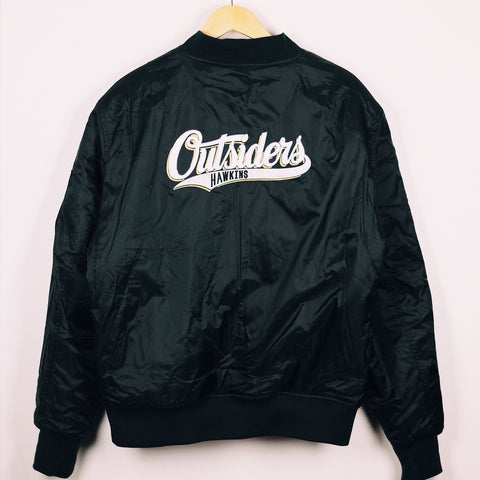 BLOOD SPORTS - HAWKINS OUTSIDERS BOMBER JACKET BLACK