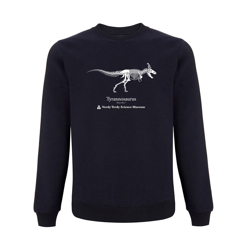 NERDY THINGS SEASON 3 - TYRANNOSAURUS CREWNECK NAVY BLUE