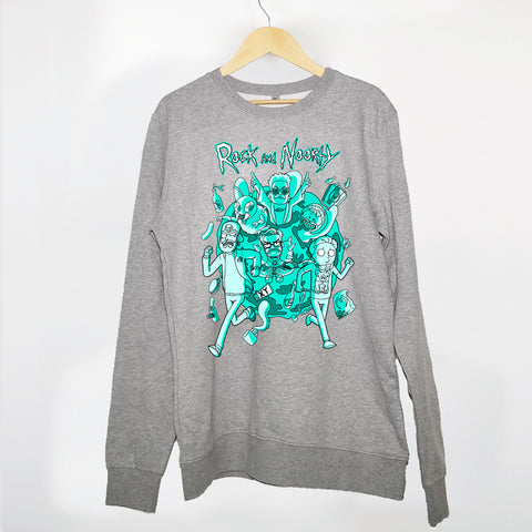 IM AUTOKINO - ROCK AND NOORTY CREWNECK GREY