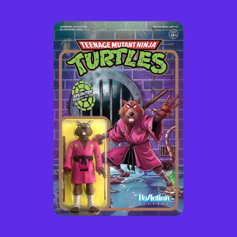 SUPER 7 REACTION x TEENAGE MUTANT NINJA TURTLES - SPLINTER