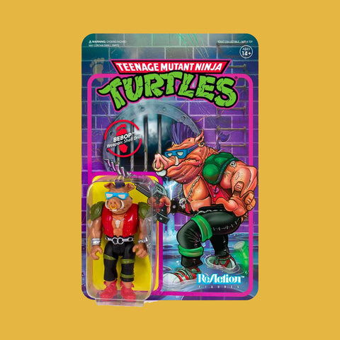 SUPER 7 x TEENAGE MUTANT NINJA TURTLES - REACTION ACTIONFIGUR BEBOP (10CM)
