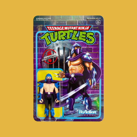 SUPER 7 x TEENAGE MUTANT NINJA TURTLES - REACTION ACTIONFIGUR SHREDDER (10CM)