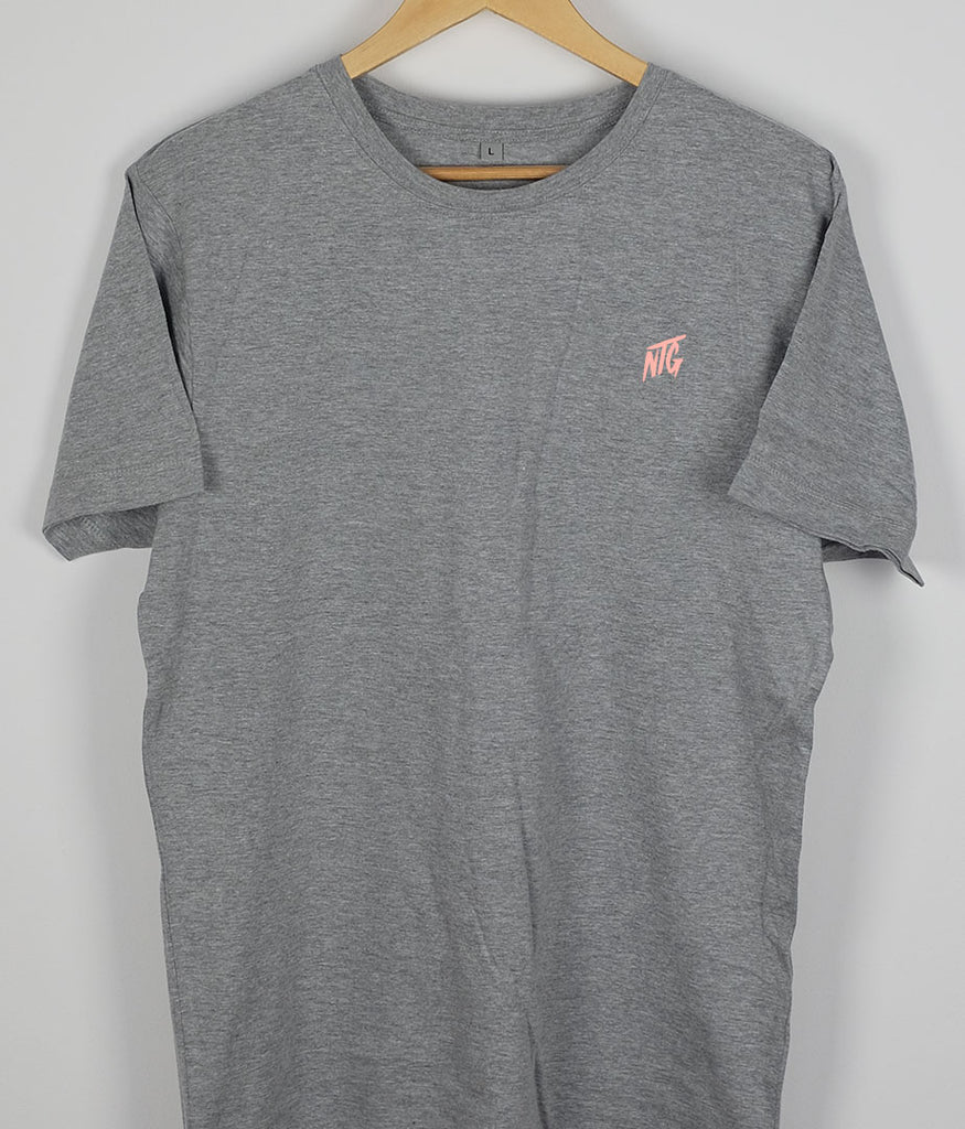 NTG DELUXE - STITCHED LOGO 2.0 SHIRT GREY & SALMON