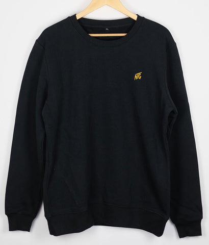 NTG DELUXE - STITCHED LOGO 2.0 CREWNECK BLACK & YELLOW
