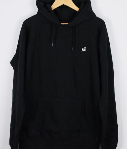 NTG DELUXE - STITCHED LOGO 2.0 HOODIE BLACK & WHITE