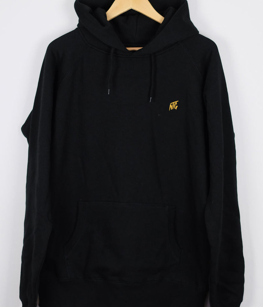 NTG DELUXE - STITCHED LOGO 2.0 HOODIE BLACK & YELLOW