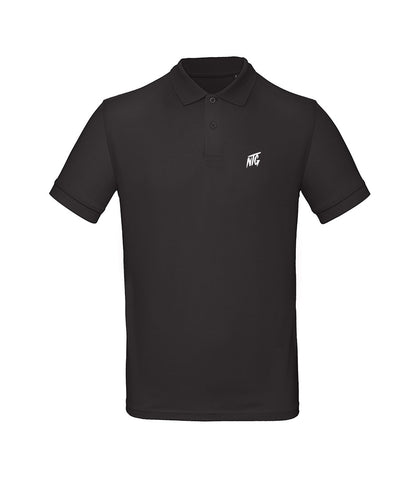 NTG DELUXE - STITCHED LOGO 2.0 POLO SHIRT BLACK & WHITE