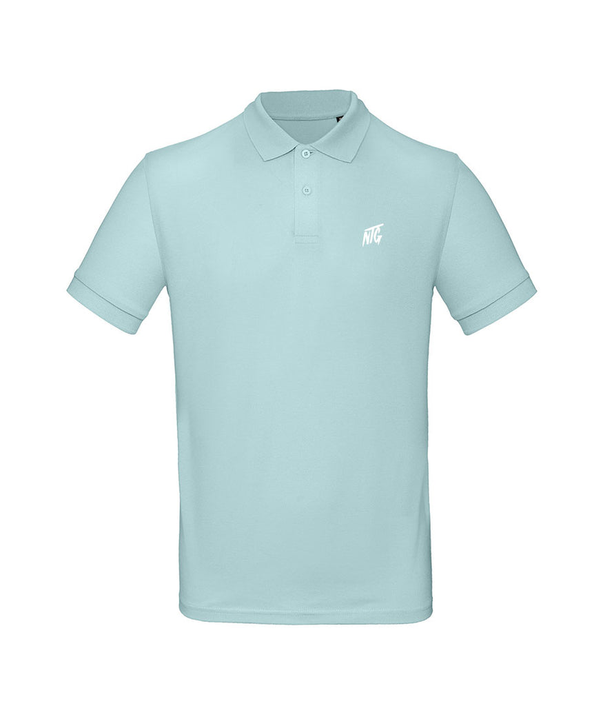 NTG DELUXE - STITCHED LOGO 2.0 POLO SHIRT MINT & WHITE